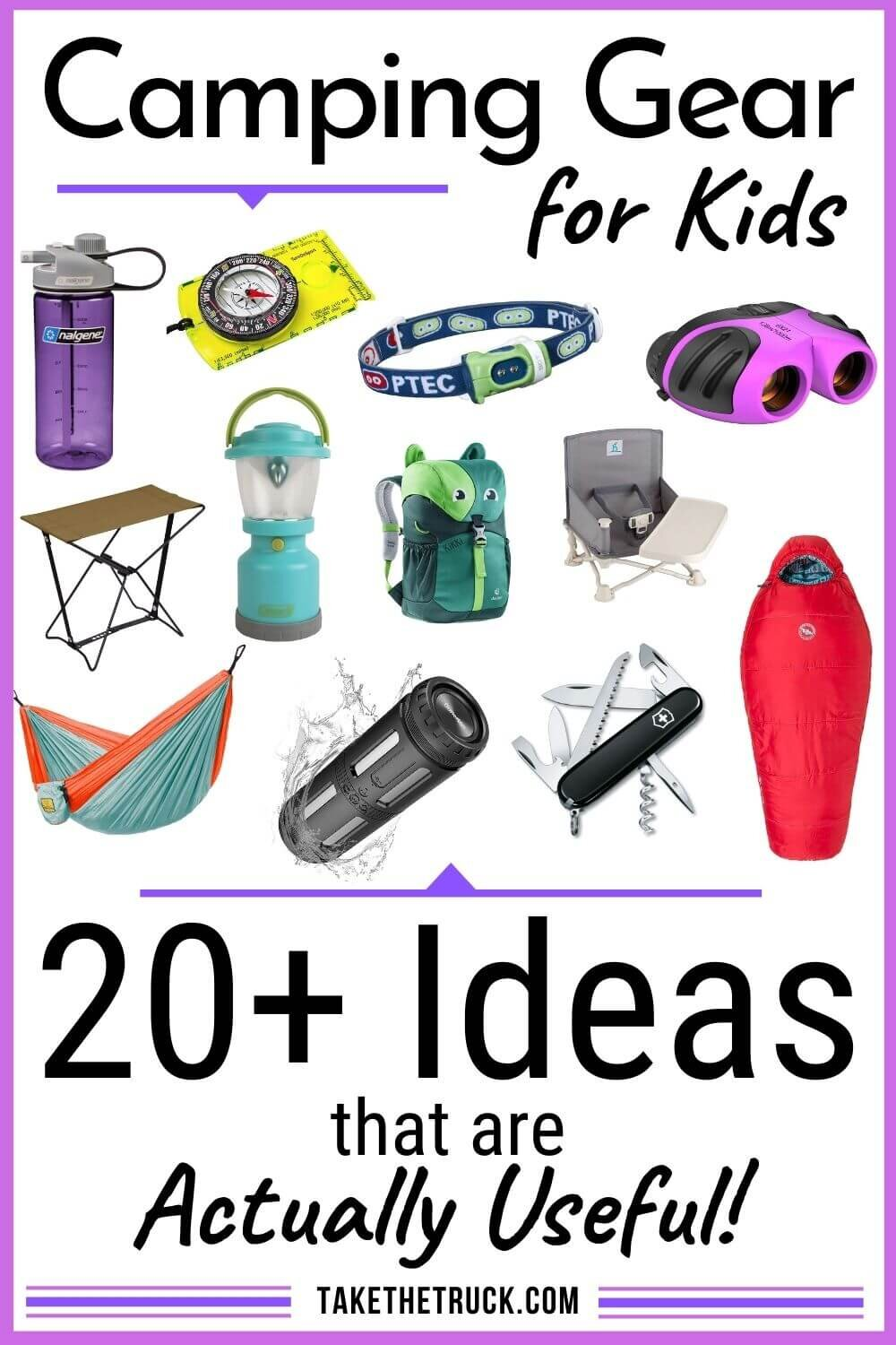 Looking for the best kids' camping gear to buy for the children in your life? Check out over 20 useful camping gear ideas that make great outdoor gear gifts for kids, from babies up to teens.