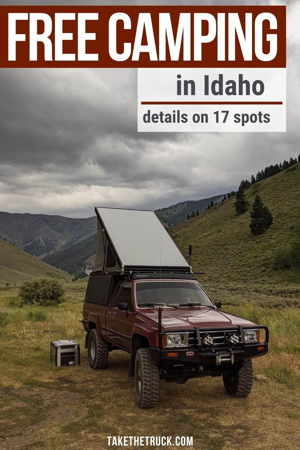 Looking for free camping in Idaho? This post gives all the details you'll need about 17 different boondocking spots - either blm camping or national forest camping in Idaho.