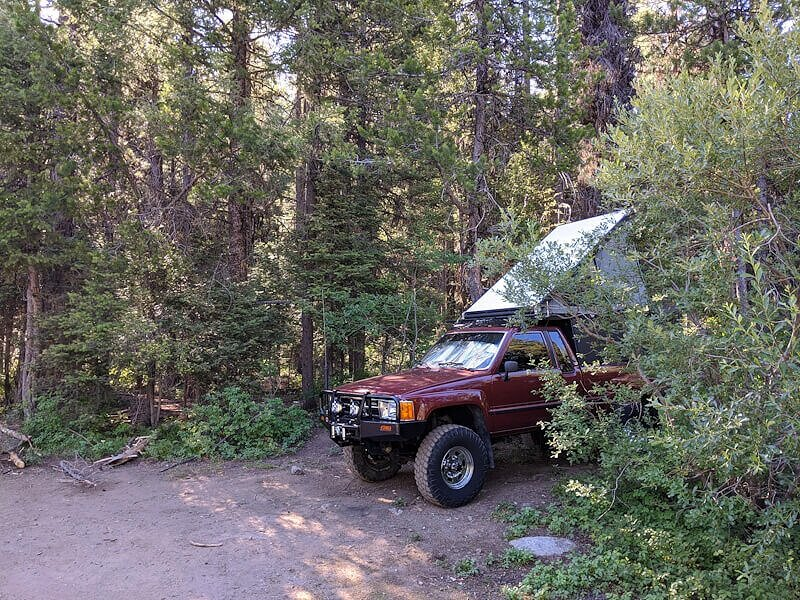 Free hot springs camping in Idaho near Trail Creek Hot Springs.