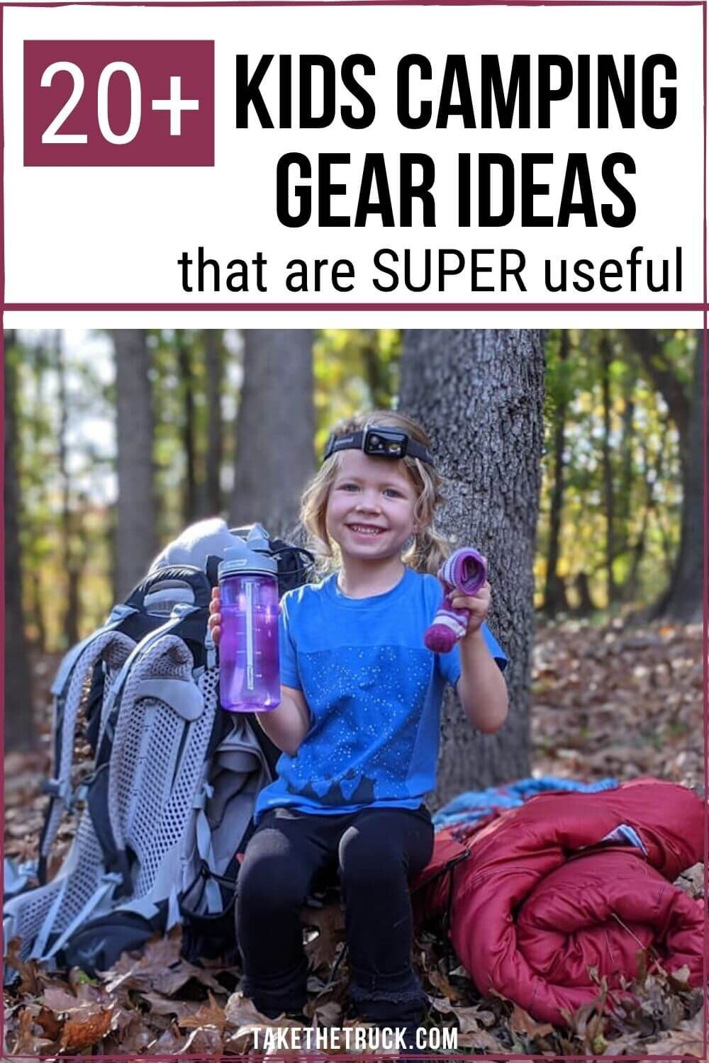 Searching for the best kids' camping gear to buy for the children in your life? Check out over 20 useful camping gear ideas that make great outdoor gear gifts for kids, from babies up to teens.