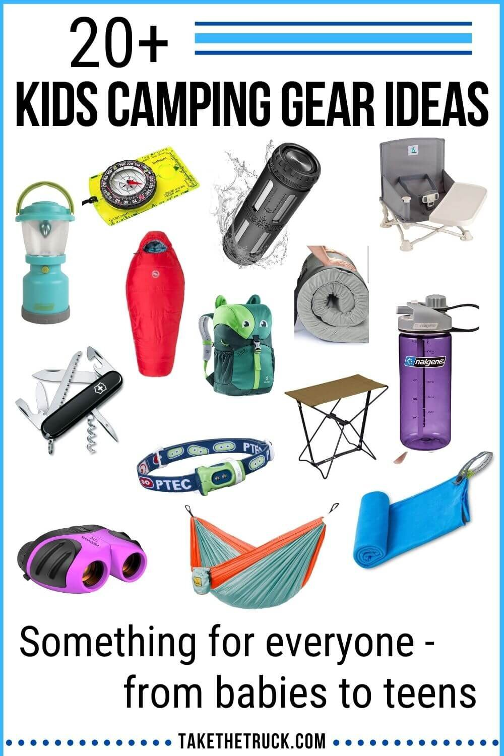 Looking for the best kids' camping gear to buy for the children in your life? Check out over 20 useful camping gear ideas that make great outdoor gear gifts for kids, from babies on up to teens.