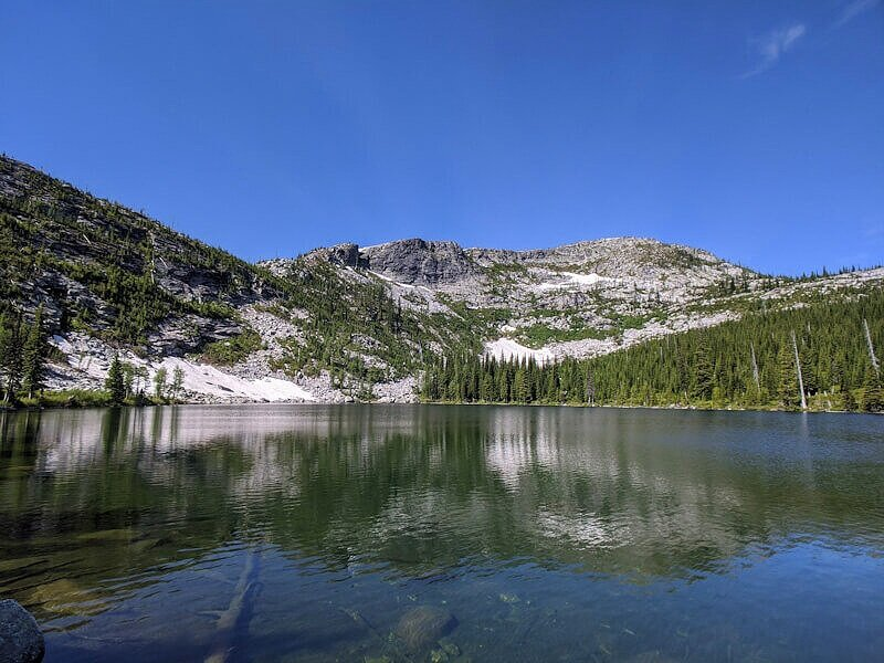 Roman Nose Lake by free primitive campsites.