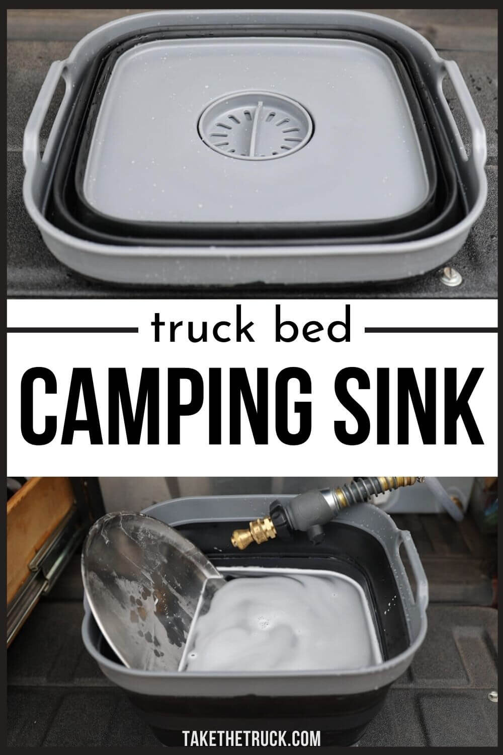 Looking for some great portable camping sink ideas? This post can help, whether you need a backpacking sink, collapsible camping sink, truck bed camping sink, or car, suv, or minivan camping sink!