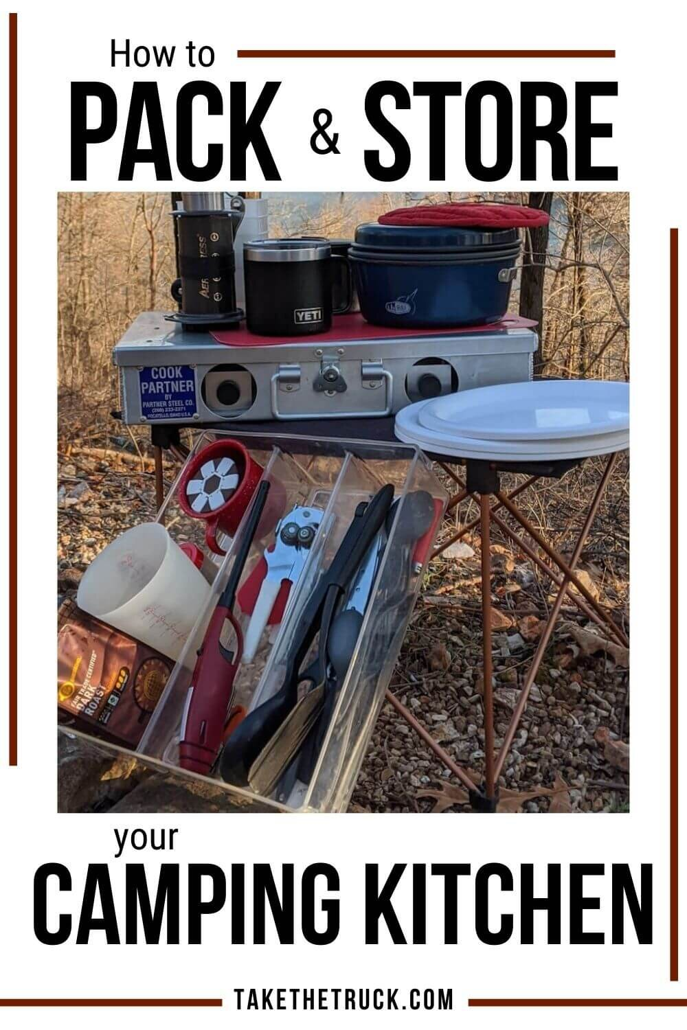 Tips for setting up a cheap camp kitchen.