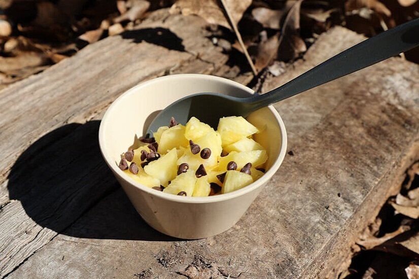 pineapple dessert is an easy camping snack idea for kids