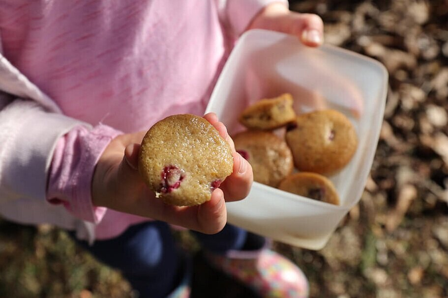 easy make ahead muffins as easy camping snacks for kids