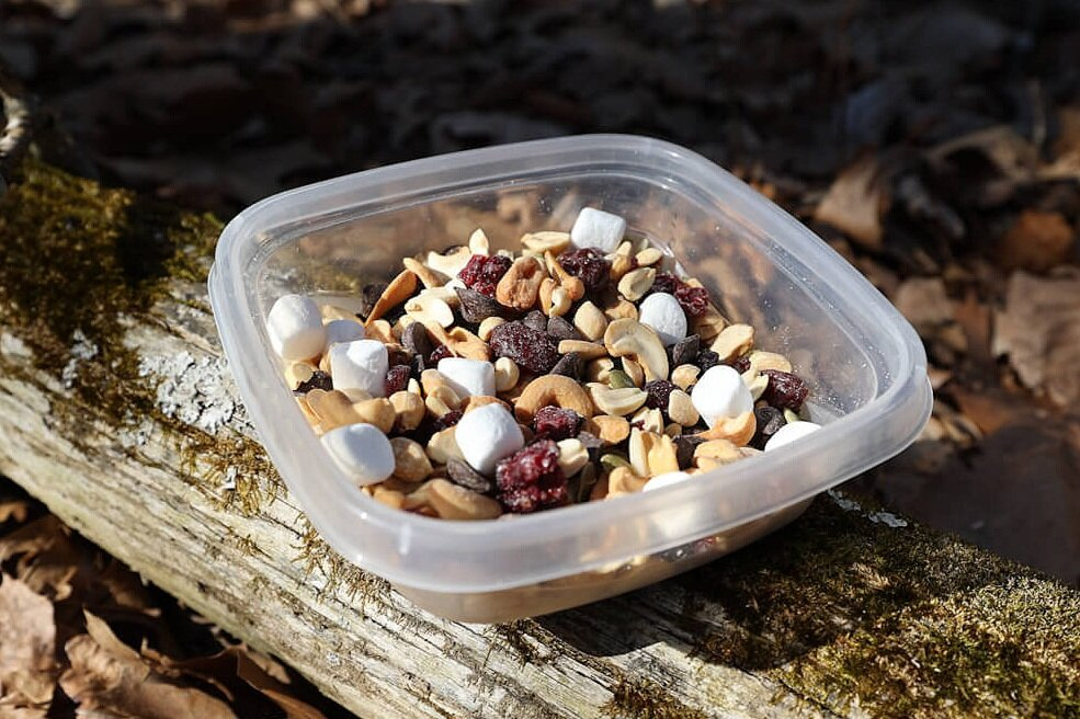 Trail mix as easy camping snacks for kids