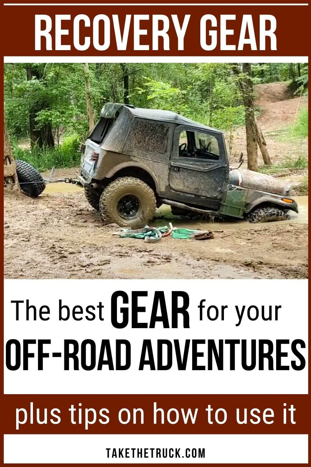 The best vehicle recovery equipment, off road recovery gear, and overland recovery kit for your overlanding rig. Be prepared in your off road recovery vehicle!