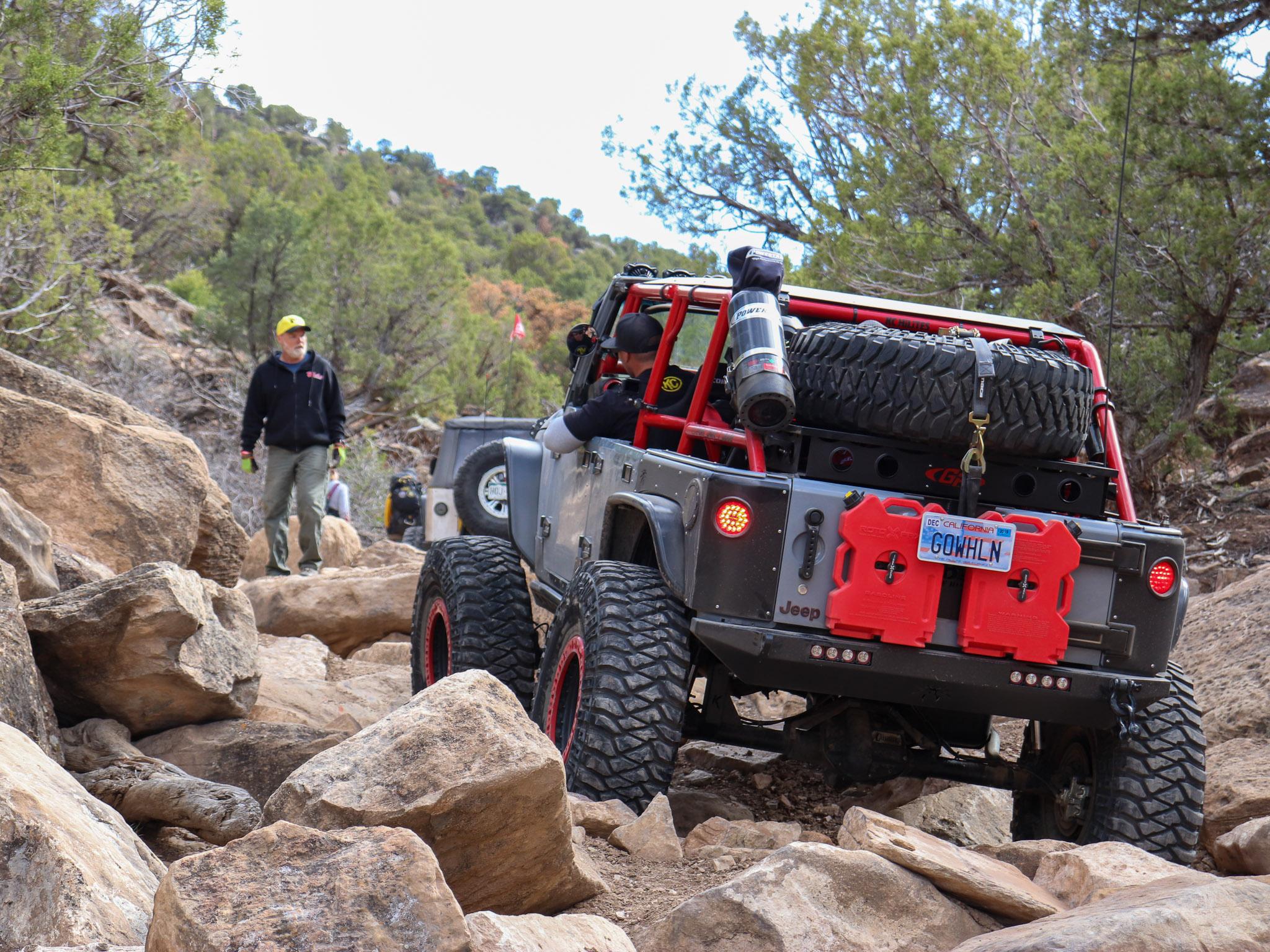 Custom Rock Crawling Jeep JK - Rear View Shot