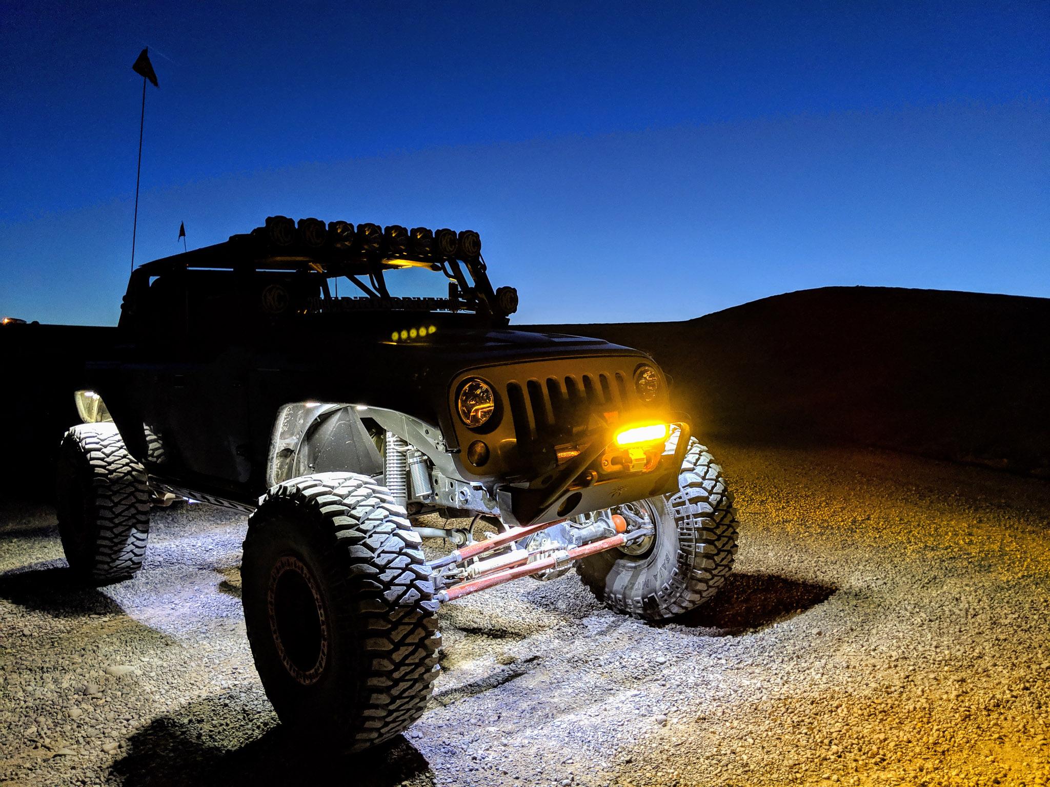 Off Road Night Scene - Custom Jeep JK Build