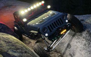 Adam's Custom Jeep JK Rock Crawling at Night