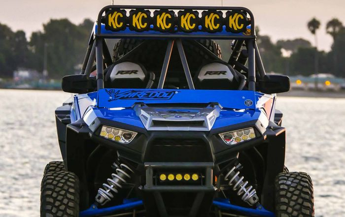 Custom Polaris RZR Off Road Build with KC Lights