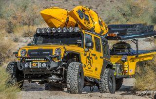 Overlanding Jeep JK Custom Build with Roof Racks & Integrated Lighting