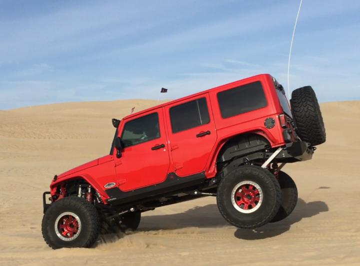 Big Red Jeep JK Off Road Build - Image #04